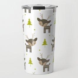Deer and Trees Travel Mug