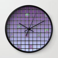 nope Wall Clocks featuring nope by gasponce