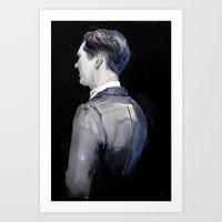 cumberbatch Art Prints featuring Benedict Cumberbatch by heheheh