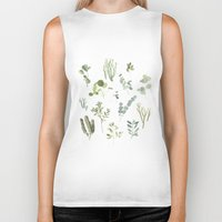 plants Biker Tanks featuring Plants  by Maggie Chiang