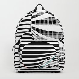 Deformed dots and lines Backpack