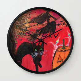 Halloween Is A State Of Mind Wall Clock