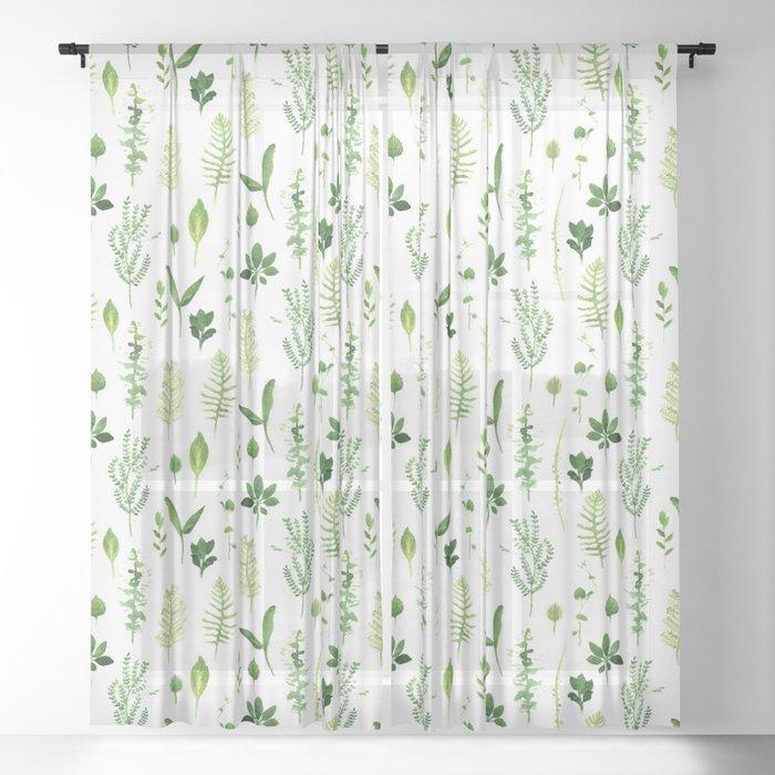 Leaves Sheer Curtain