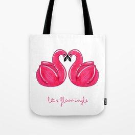 Flamingle Flamingo Float Pair Tote Bag