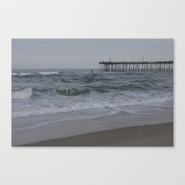 Overcast Day at Nag's Head Canvas Print