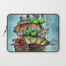 Howl's Moving Castle watercolor Laptop Sleeve