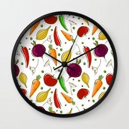 Fun vegetables Wall Clock