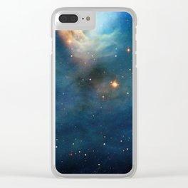 Dusty Nebula Clear iPhone Case