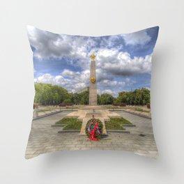 Russian War Memorial Budapest Throw Pillow