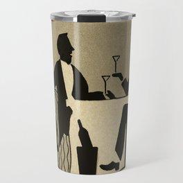 Vintage Dapper Men with Martinis Travel Mug