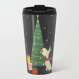 Little White Christmas Westie Travel Mug