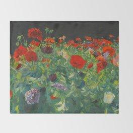 John Singer Sargent Poppies Throw Blanket