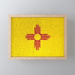 Extruded flag of New Mexico Framed Mini Art Print