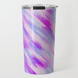 purple and pink painting texture Travel Mug