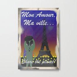 Mon Amour, Ma ville... Metal Print