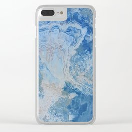 Blue Onyx Clear iPhone Case