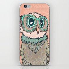 Owl wearing glasses II iPhone & iPod Skin