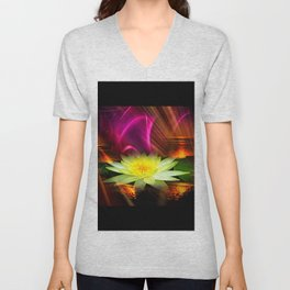 Wellness Water Lily 2 Unisex V-Neck