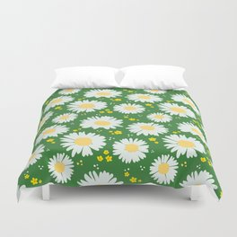Spring Dream Daisies Duvet Cover