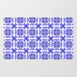 Classic European Blue Tiles Rug
