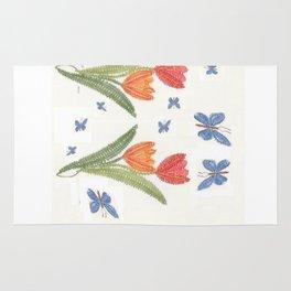 Carte de vœux en dentelle aux fuseaux Rug