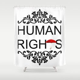 Human Rights Shower Curtain