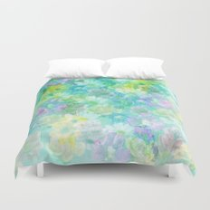 Enchanted Spring Floral Abstract Duvet Cover