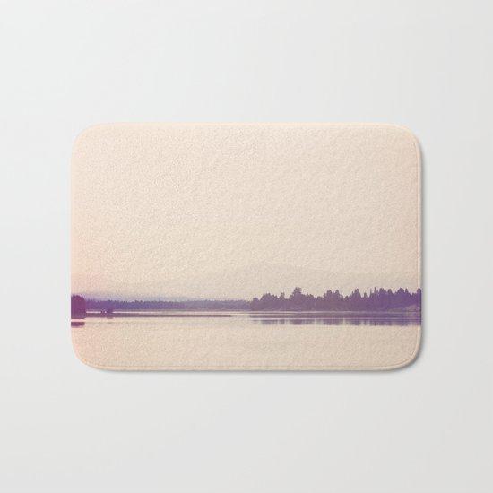 Nostalgic Cascade Lake Idaho Bath Mat