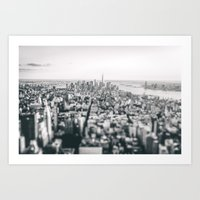 new york skyline Art Prints featuring New York City Skyline by Vivienne Gucwa