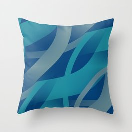 Riptide - Abstract Throw Pillow