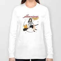 hermione Long Sleeve T-shirts featuring Hermione the Teenage Witch by HuckBlade