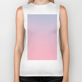 TRANSIENT FEELING - Minimal Plain Soft Mood Color Blend Prints Biker Tank