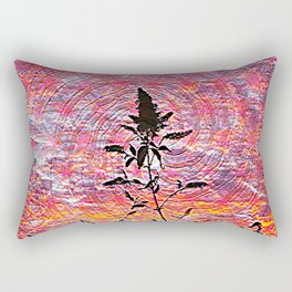 Leaf shadow at sunset Rectangular Pillow