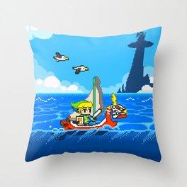 The Legend of Zelda: Wind Waker Advance Throw Pillow