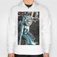 moto Hoodies featuring Vintage moto by Johanna Arias