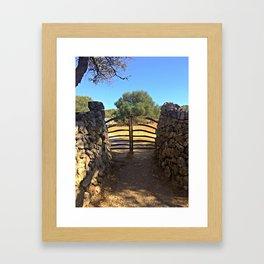 Traditional Menorcan Gate Framed Art Print