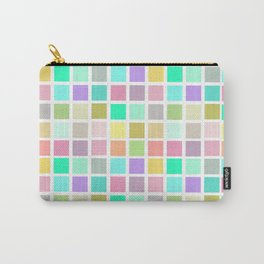 pink girl squares photography backdrop Carry-All Pouch