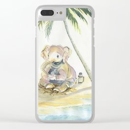 Dreamy Baby Elephant Clear iPhone Case