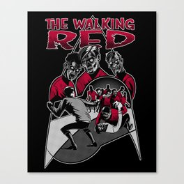 The Walking Red Canvas Print