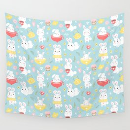 Spring Bunnies Wall Tapestry