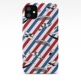 Barber Shop Pattern iPhone Case