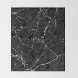 Marble Black Throw Blanket