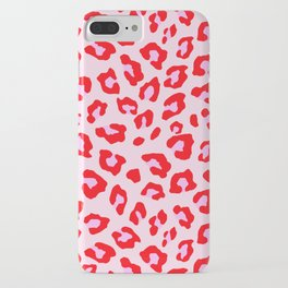 Leopard Print - Red And Pink iPhone Case