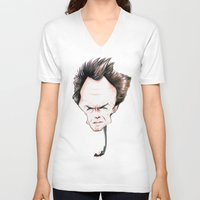 clint eastwood V-neck T-shirts featuring Clint Eastwood by Diego Abelenda
