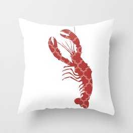 LOBSTER SILHOUETTE WITH PATTERN Throw Pillow