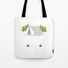 Nothing I Love More than Camping Graphic T-shirt Tote Bag