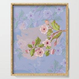Colored Sketch of Sakura Branch Serving Tray