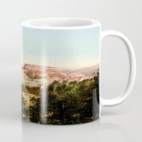 mountains Mugs featuring mountains by PureVintageLove