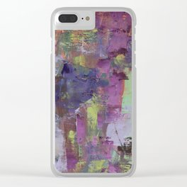 Blue and Purple Clear iPhone Case