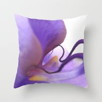 orchid Throw Pillows featuring Orchid  by Lena Weiss
